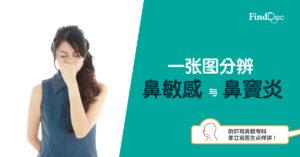 一张图分辨鼻敏感与鼻窦炎  针对症状纾缓鼻敏感